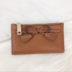 Kate Spade Tan Bow Leather Wallet